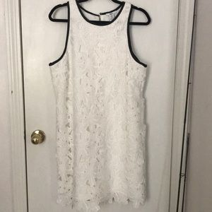 Bar III white flower dress XL